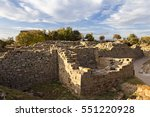 City Walls In The Ruins Of Troy ...