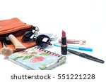 cosmetics and women's... | Shutterstock . vector #551221228