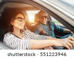 happy couple goes by the car | Shutterstock . vector #551223946