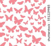 pink butterflies on a white... | Shutterstock .eps vector #551229985