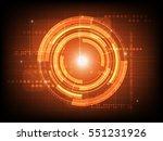abstract orange circle digital...