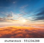Beautiful Sunset Above Clouds From - Fine Art prints