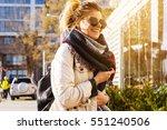 portrait of stylish pretty... | Shutterstock . vector #551240506