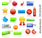 vector sale tags | Shutterstock .eps vector #55124149