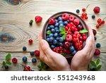 fresh berries. various  summer... | Shutterstock . vector #551243968