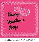 happy valentine's day  greeting ... | Shutterstock .eps vector #551246692