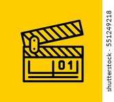 clapperboard icon. isolated...