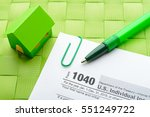 Paper House  Tax Form And Pen...