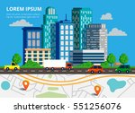colorful background with city... | Shutterstock .eps vector #551256076