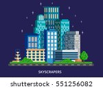 city skyline at night concept... | Shutterstock .eps vector #551256082