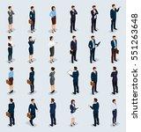isometric people isometric... | Shutterstock .eps vector #551263648