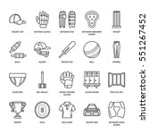 vector line icons of cricket... | Shutterstock .eps vector #551267452