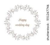 hand drawn  wreath made in... | Shutterstock .eps vector #551267746