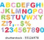 scribble alphabet   Shutterstock .eps vector #55126978