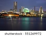 japan skyline at yokohama city  ... | Shutterstock . vector #551269972