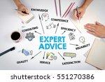 expert advice concept. the... | Shutterstock . vector #551270386