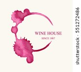 watercolor logo for wine house... | Shutterstock .eps vector #551272486