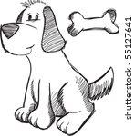 sketchy doodle dog vector...   Shutterstock .eps vector #55127641