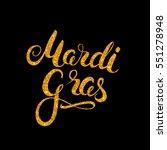 mardi gras gold glitter texture ... | Shutterstock .eps vector #551278948