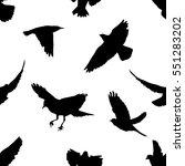 a flock of flying birds.... | Shutterstock .eps vector #551283202