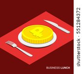 business lunch concept... | Shutterstock .eps vector #551284372