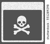 poison skull calendar page...   Shutterstock .eps vector #551289298