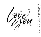 love you postcard. phrase for... | Shutterstock .eps vector #551290018