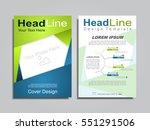 brochure design layout with... | Shutterstock .eps vector #551291506
