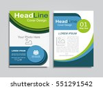 brochure design layout with... | Shutterstock .eps vector #551291542