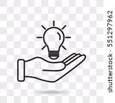 line icon  idea   Shutterstock .eps vector #551297962