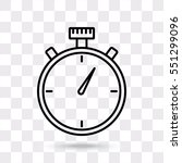 line icon  stopwatch | Shutterstock .eps vector #551299096