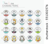 big collection of male and... | Shutterstock .eps vector #551302576