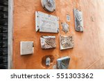 old jewish symbols in ghetto of ... | Shutterstock . vector #551303362