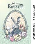 Vintage Easter Postcard With...