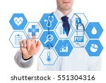 personal health data concept on ... | Shutterstock . vector #551304316