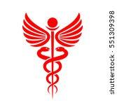 medicine caduceus vector sign...   Shutterstock .eps vector #551309398