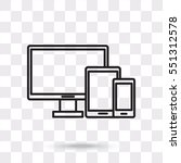 line icon   devices | Shutterstock .eps vector #551312578