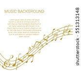 musical design elements from... | Shutterstock .eps vector #551313148