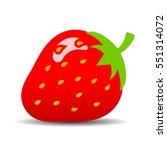 ripe strawberry vector icon | Shutterstock .eps vector #551314072