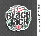 vector logo black jack  three...