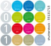 colorful calendar for year 2011 ... | Shutterstock .eps vector #55131715