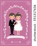 bride and groom in a wedding... | Shutterstock .eps vector #551317636