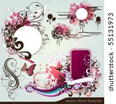 floral deign elements | Shutterstock .eps vector #55131973