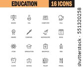 education flat icon set set....