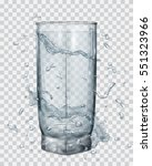 water splashes in gray colors... | Shutterstock .eps vector #551323966