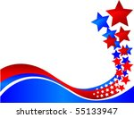 a wavy decorative banner that... | Shutterstock .eps vector #55133947