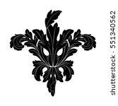 vintage baroque ornament retro... | Shutterstock .eps vector #551340562