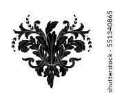 vintage baroque ornament retro... | Shutterstock .eps vector #551340865