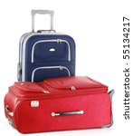 two travel suitcases | Shutterstock . vector #55134217