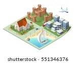 set of isolated high quality... | Shutterstock .eps vector #551346376